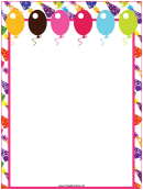 Celebration Page Border Templates