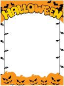 Evil Pumpkins Page Border Templates