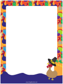 Turkeys Page Border Templates