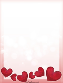 3d Hearts Page Border Templates