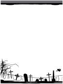 Graveyard Page Border Templates