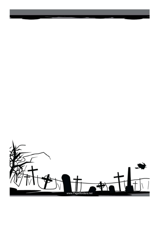 Graveyard Page Border Templates Printable pdf
