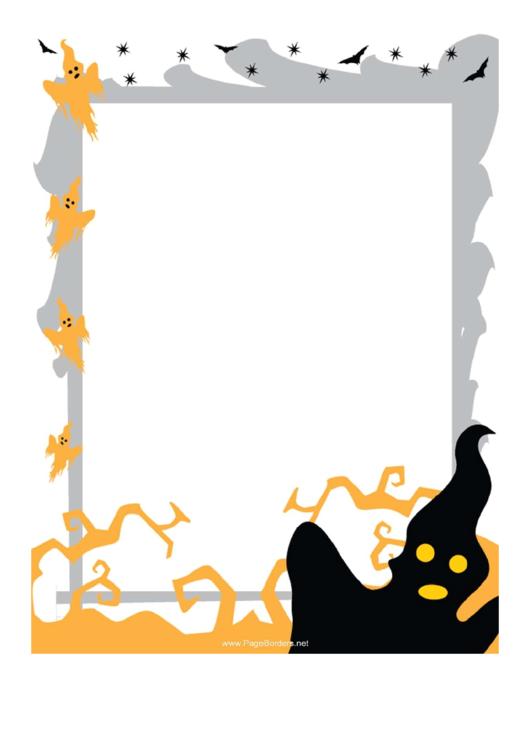 Ghosts Page Border Templates Printable pdf