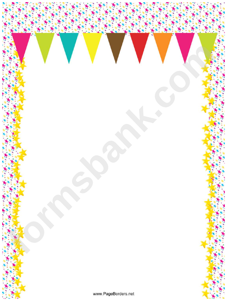 Party Flags Page Border Templates