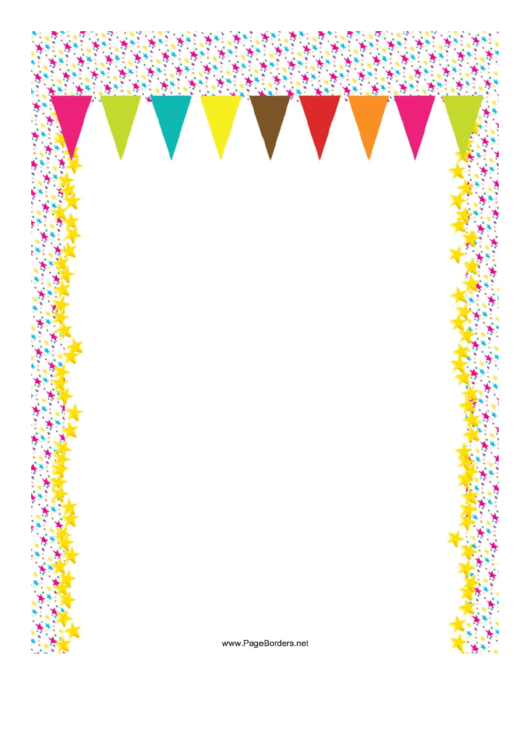 Party Flags Page Border Templates Printable pdf