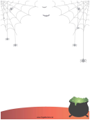 Spiders Bats Page Border Templates