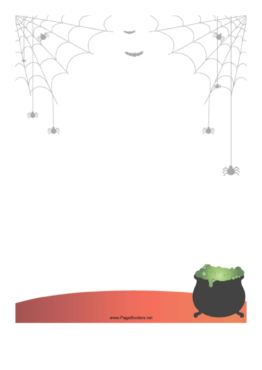 Spiders Bats Page Border Templates Printable pdf