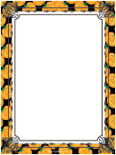 Pumpkins Page Border Templates