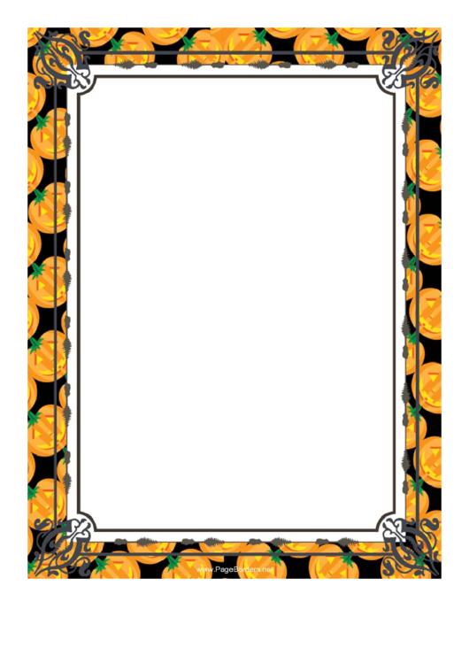 Pumpkins Page Border Templates Printable pdf