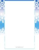 White Snowflakes Page Border Templates