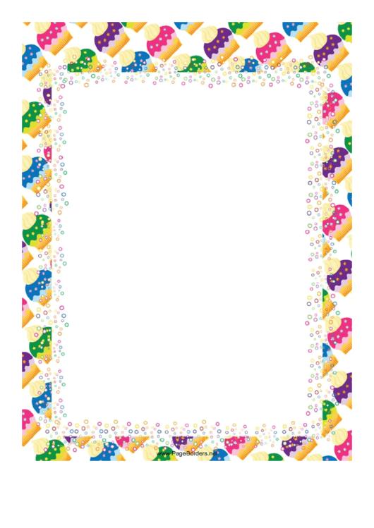 Icecream Page Border Templates Printable pdf