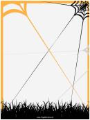 Spiderweb Page Border Templates