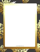Golden Snowflakes Page Border Templates