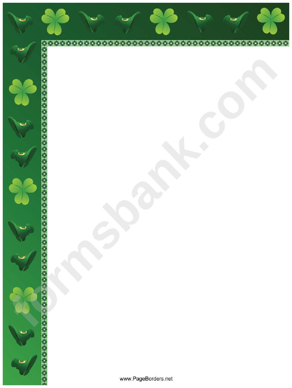 Irish Page Border Templates