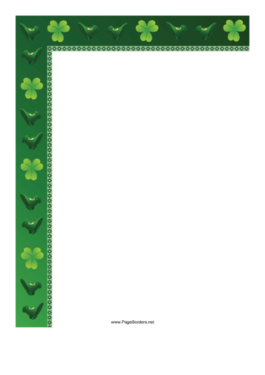 Irish Page Border Templates Printable pdf