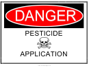 Pesticide Application Warning Sign Template