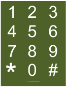 Number Chart Template (white On Green)