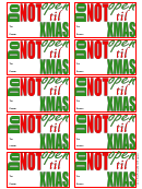 Do Not Open Gift Tag Template