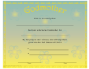 Godmother Certificate Template (yellow)