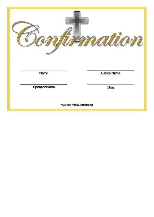 Confirmation Name Change Certificate