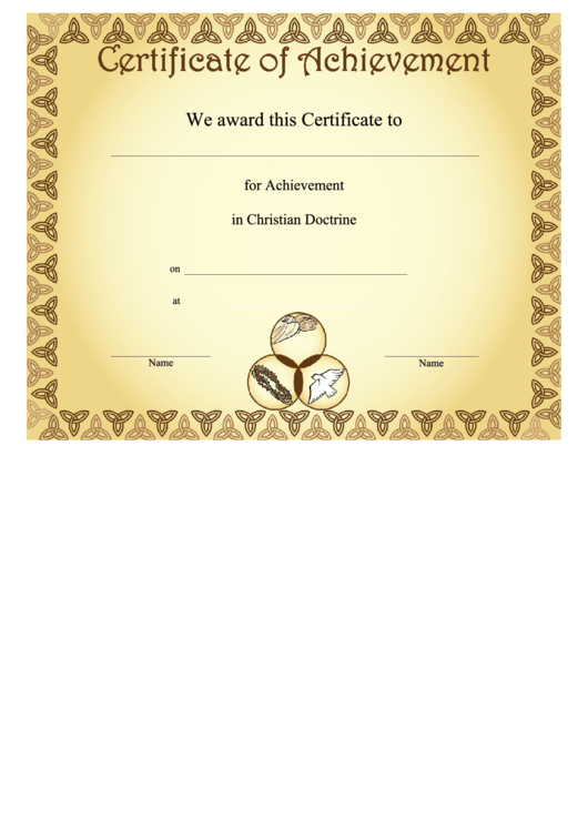 Cool christian certificate templates ideas resume ideas christian certificate of achievement template gallery yelopaper Image collections