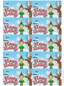 Happy Holidays Gift Tag Template - Reindeer