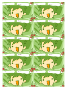 Gift Tag Template - Green Boy