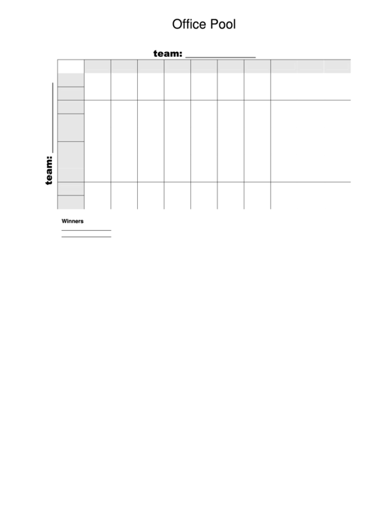 Office Pool Party Template Printable pdf