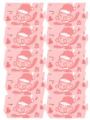 Pink Santa Gift Tag Template