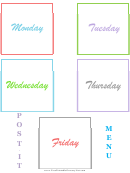 Post It Grid Template