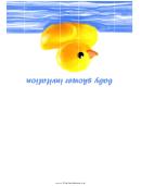 Baby Shower Invitation - Rubber Duck