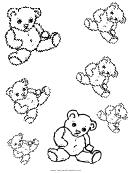 Small Teddy Bear Templates