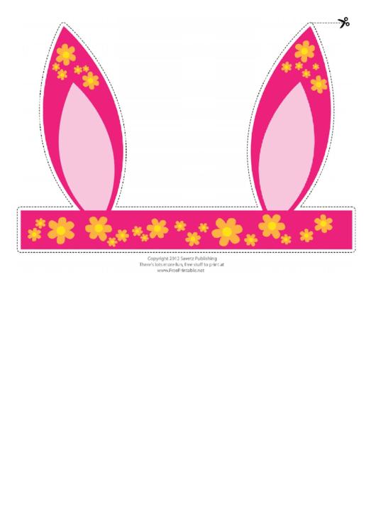 Flower pattern easter bunny ears template printable pdf download flower pattern easter bunny ears template printable pdf maxwellsz