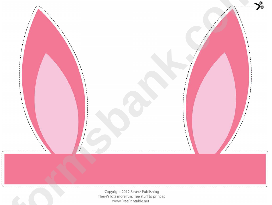 Pink Easter Bunny Ears Template Printable Pdf Download