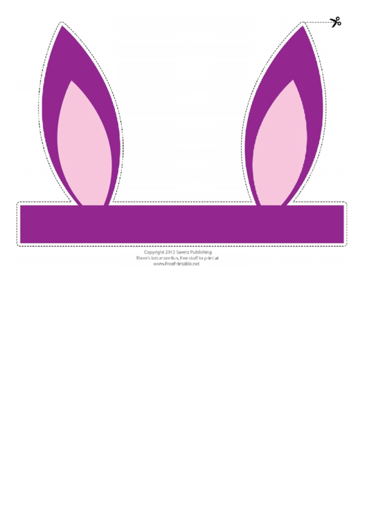 Purple Easter Bunny Ears Template Printable Pdf Download
