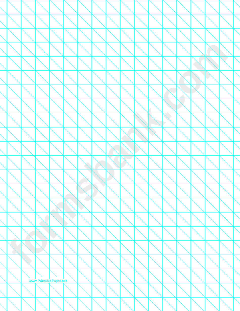 Diagonals Right With Half-Inch Grid