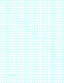 Diagonals Right With Third-inch Grid