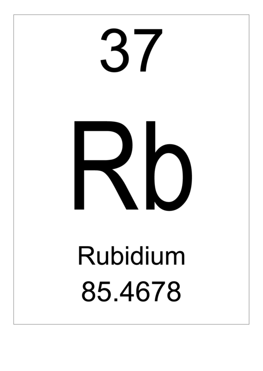 element rubidium Rubidium to start off this amazing element has just a little bit of history to it at first when i heard about this element i thought it was some type of gas but it can turn it to a liquid at a certain type of liquid.