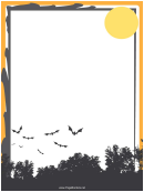 Moon And Forest Page Border Templates