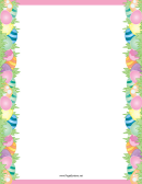 Easter Egg Purple Page Border Template