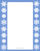 Snow Page Border Templates