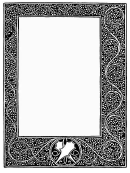 Medieval Plant Patters Page Border Templates