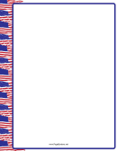 Us Flags Page Border Template - Left