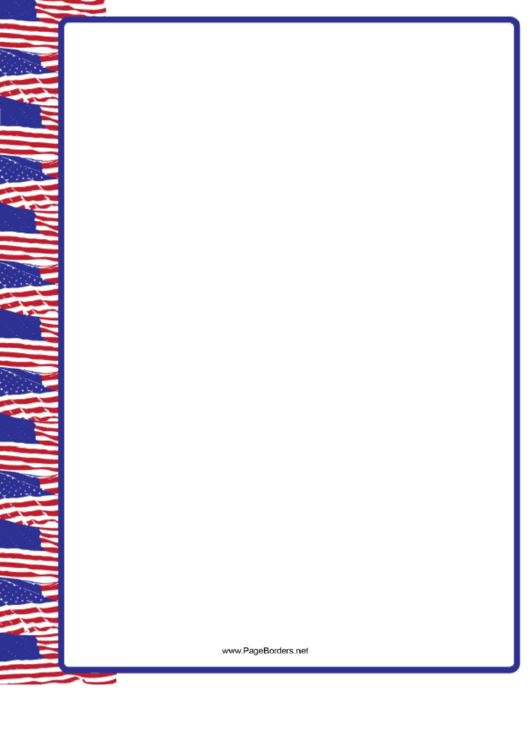 Us Flags Left Border
