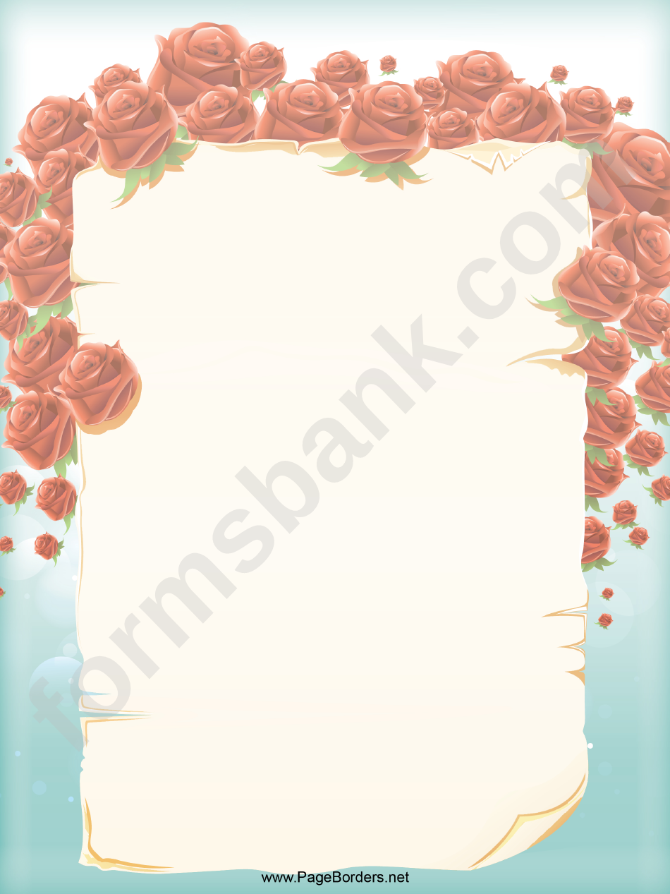 Roses Page Border Template
