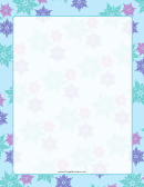 Teal Snowflakes Page Border Templates