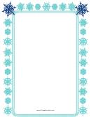 Blue Snowflakes Page Border Templates