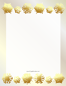 Golden Snowflakes Header And Footer