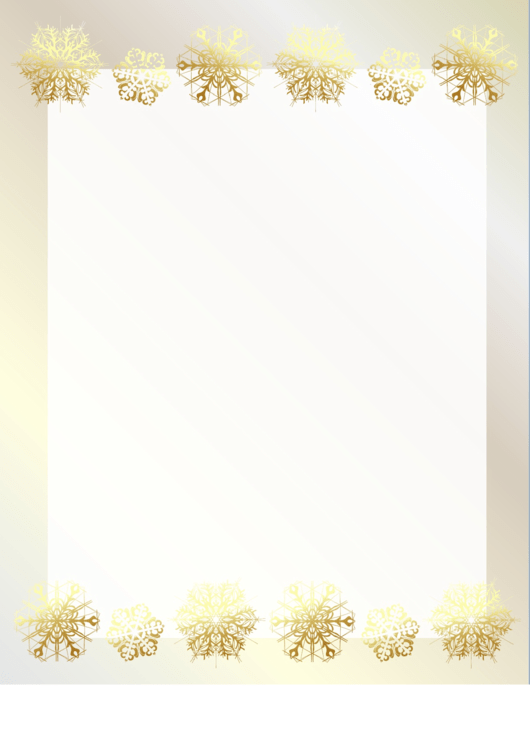 Golden Snowflakes Header And Footer Printable pdf