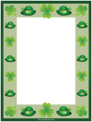 Clover And Hat Page Border Templates